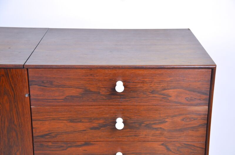 1950s George Nelson Herman Miller Thin Edge Rosewood Credenza Cabinet Sideboard