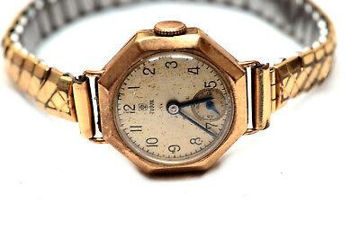Original Vintage 1940's 9ct Gold Tudor Lady's Watch Chester 1947