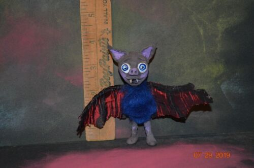 Halloween Handmade Fantasy Bat Doll Bendable wings by Nicole Swanbeck