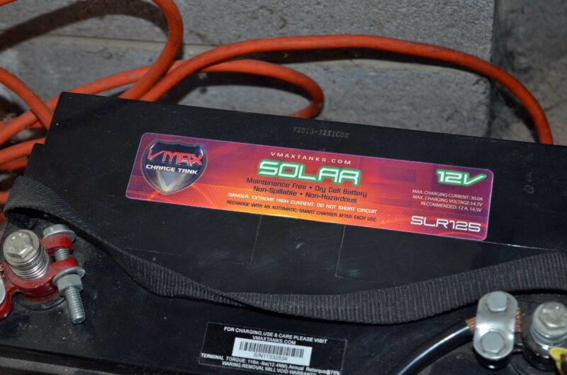 VMAX Solar Charge Tank SLR125 12v Battery Bank