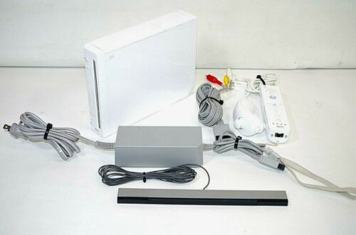 Nintendo Wii White Console RVL-001 Game Cube Compatible Bundle With Accessories