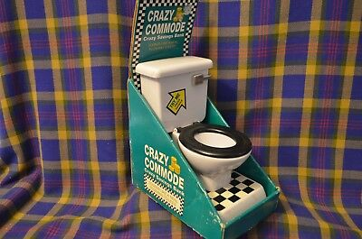 Crazy Commode Savings Bank W Flushing Sound For Deposits Original Packaging
