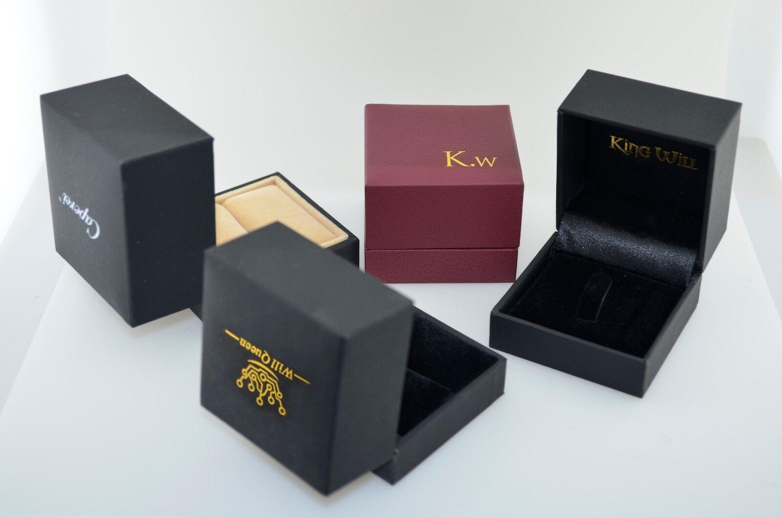4 Pack Quality Random Large Velvet Ring Boxes for Wedding Ri