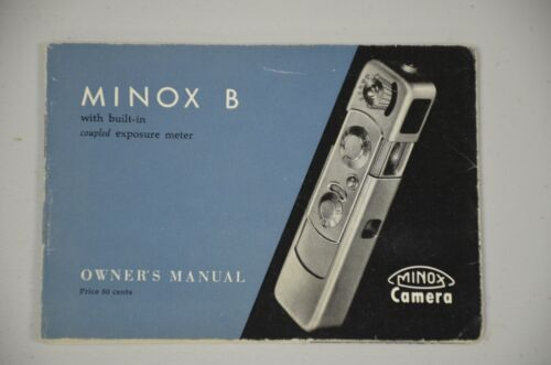 vintage MINOX B Manual Operating Instruction for use GuideBook