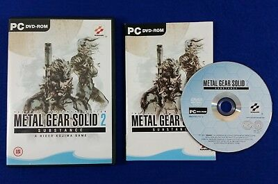pc METAL GEAR SOLID 2 Substance Tactical Espionage Action MGS PC DVD-ROM ()