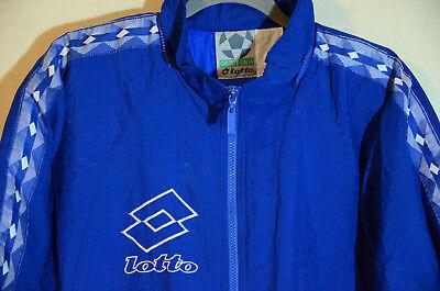 Vintage Lotto Puffer Jacket Big Logo Tape Mens Size Medium