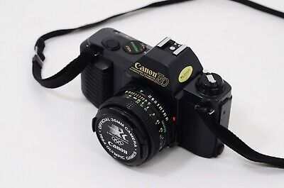 Canon T50 35mm Camera with Canon FD 50mm F1.8 lens 1984 Olympics Los Angeles