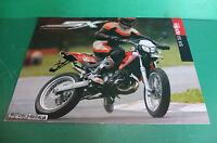 Aprilia Mx125 Rx125 Moto Pubblicita Brochure Depliant Pieghevole Catologue -  - ebay.it