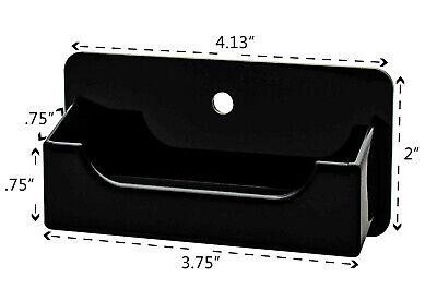 Business Gift Card Holder Black On Black Wall Mount Desktop Display