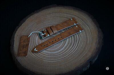 18 mm Cinturino artigianale Vintage Leather Watch Strap Handmade Italy bracelet