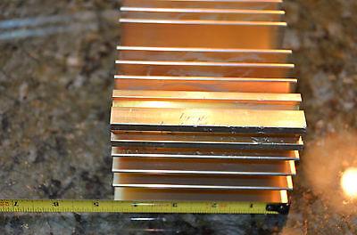Large Reclaimed Extruded Aluminum Heatsink 4.5x6.75x3.1 Audio Amp Heavy Weight