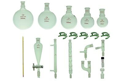 Proglass Glass Primay Organic Chemistry Kit 1420 Lab Glassware Set