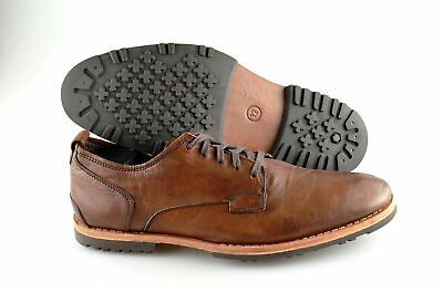 Men's TIMBERLAND 'Bardstown' Brown Leather Plain Toe Oxfords Size US 12 - D