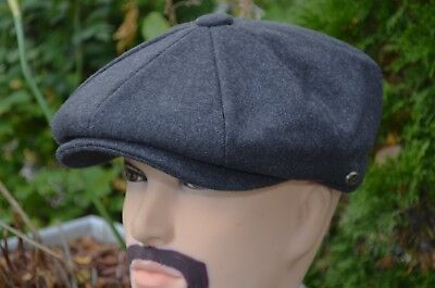 Plain 100% Wool Winter Newsboy Applejack 8Panel Driving Hat Cap Ns1595 Charcoal