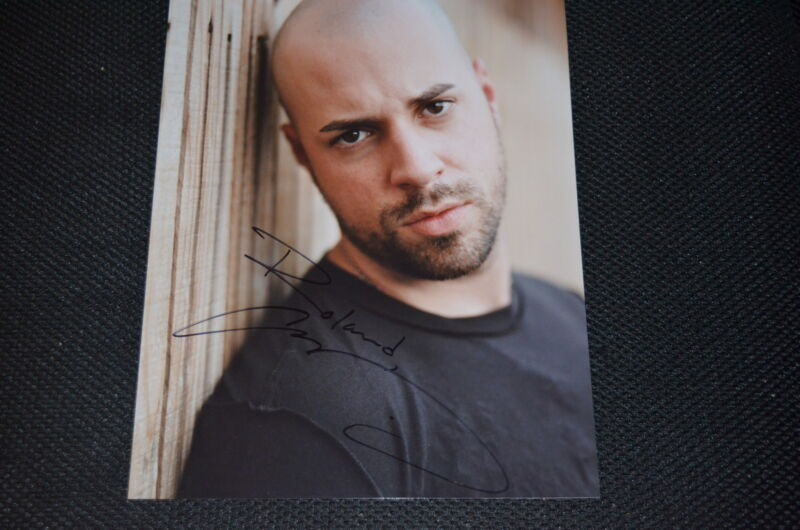 CHRIS DAUGHTRY signed Autogramm 20x25 cm In Person DAUGHTRY Crawling