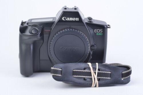 EXC++ CANON EOS 630 35mm BODY, CAP, STRAP, CLEAN AND TESTED