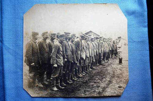 Large WWI Photo of German Prisoners of the French