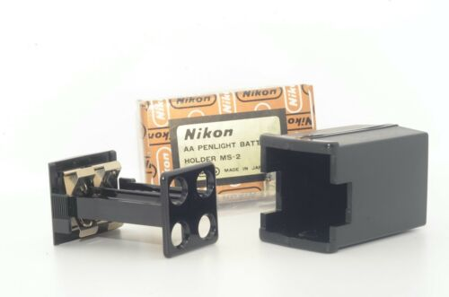 UNUSED  IN BOX NIKON MS-2 AA BATTERY HOLDER FOR MD-2 MOTOR DRIVE OF F2