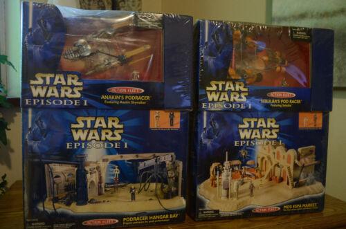 Star Wars TPM Action Fleet Sebulba Anakin Podracer Mos Espa Market