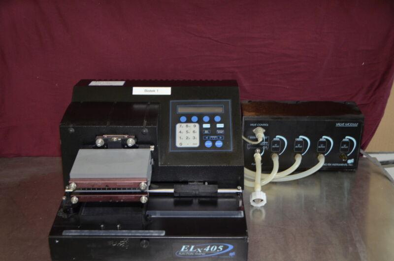 Bio-tek Elx405 Microplate Washer With Bio-tek Valve Module