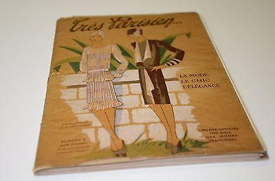 1928 Tres Parisien Fashion Magazine Porchoir Prints & Plates Paris Art Deco