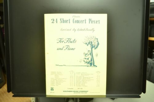 24 Short Concert Pieces for Flute & Piano - Flute Book Only ***Free Shipping***