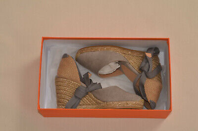 Castaner Womens Carina Canvas Wedge Espadrilles Lace Up Made in Spain sz 35 US 5
