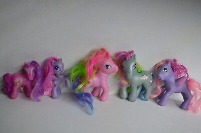 My Little Pony Lot of 5 Small and Large Pink Blue Purple
