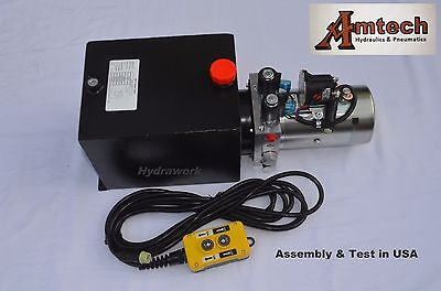 4210s Hydraulic Power Unit Hyfraulic Pump12v Double Acting10qt Dump Trailer