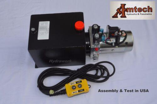 4210S Hydraulic Power Unit, Hydraulic Pump,12V Double Acting,10Qt, Dump Trailer