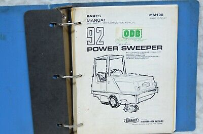 Tennant Power Sweeper 92 92aa Power Sweeper Parts Manual Binder Continental F163