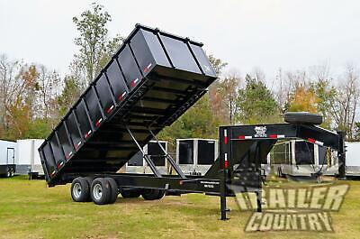 New 2021 8x20 8 X 20 20k Gvwr Hydraulic Dump Trailer Equipment Hauler 48 Sides