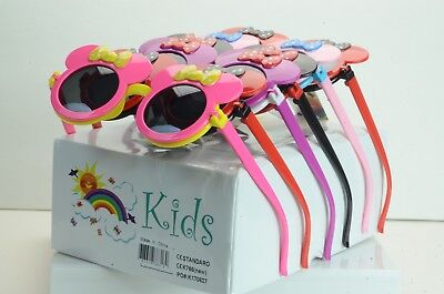 WHOLESALE LOT OF ROUND LENS WITH BOWS KIDS GIRL  Sunglasses  (Wholesale Round Sunglasses)