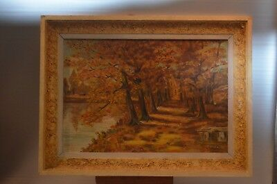 ANTIQUE TABLE ON PANEL NOT CANVAS STILL LIFE FRAME WOOD PAINTING OIL
