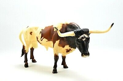 "Vintage Breyer Texas Longhorn Bull Steer 13"" Brown White Molted Color NICE!"