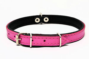 LEATHER DOG COLLAR PADDED Handmade