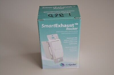 Aircycler Smartexhaust Rocker Switch White - Sed-s Bath Fan Light Ventilation
