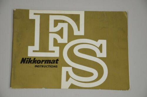 very rare Nikkormat FS instruction manual Nikon