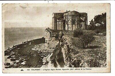 CPA-Carte Postale-France--Talmont son Eglise et la Falaise VM6765