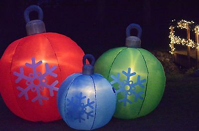 Inflatable Christmas Ornaments Airblown Outdoor Christmas Decoration Set of 3
