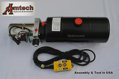 3208c Hydraulic Power Unit Hydraulic Pump 12v Single Acting8qt Dump Trailer