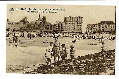 CPA - Carte postale - Belgique Blankenberge- La Plage vue du Casino-  VM946