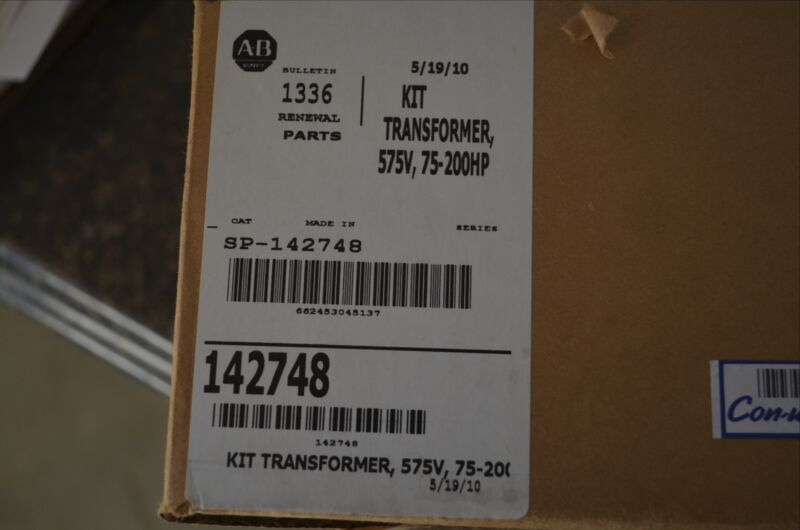 Allen Bradley 142748 Transformer Kit 575V 75-200HP