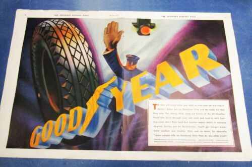 Vintage Goodyear Tires Ad / Advertisments - Lot of 50 Different