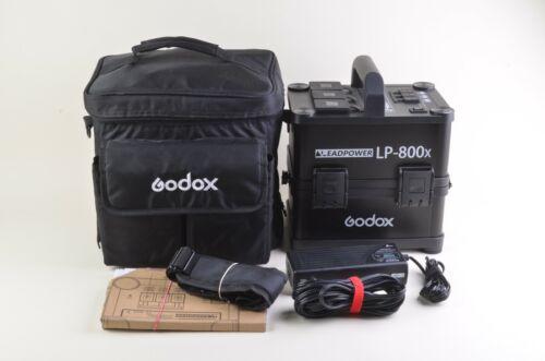 MINT GODOX POWERSTATION LP-800x AC/DC ON-LOCATION POWER SUPPLY, CASE, CORDS