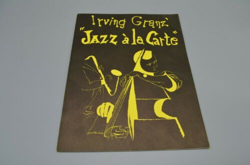 Jazz a la Carte Program SIGNED Ella Fitzgerald Dave Brubeck more + Ticket Stubs