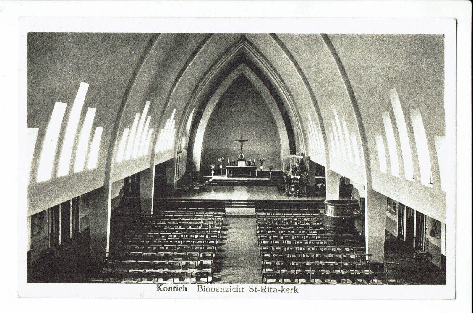 CPA-Carte postale-Belgique - Kontich - Binnenzicht - Ste Rita-Kerk 1940-S1434