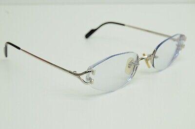 Authentic Cartier Eyeglasses 58 20 135 Rimless Scala C Decor Platine Rx Glasses