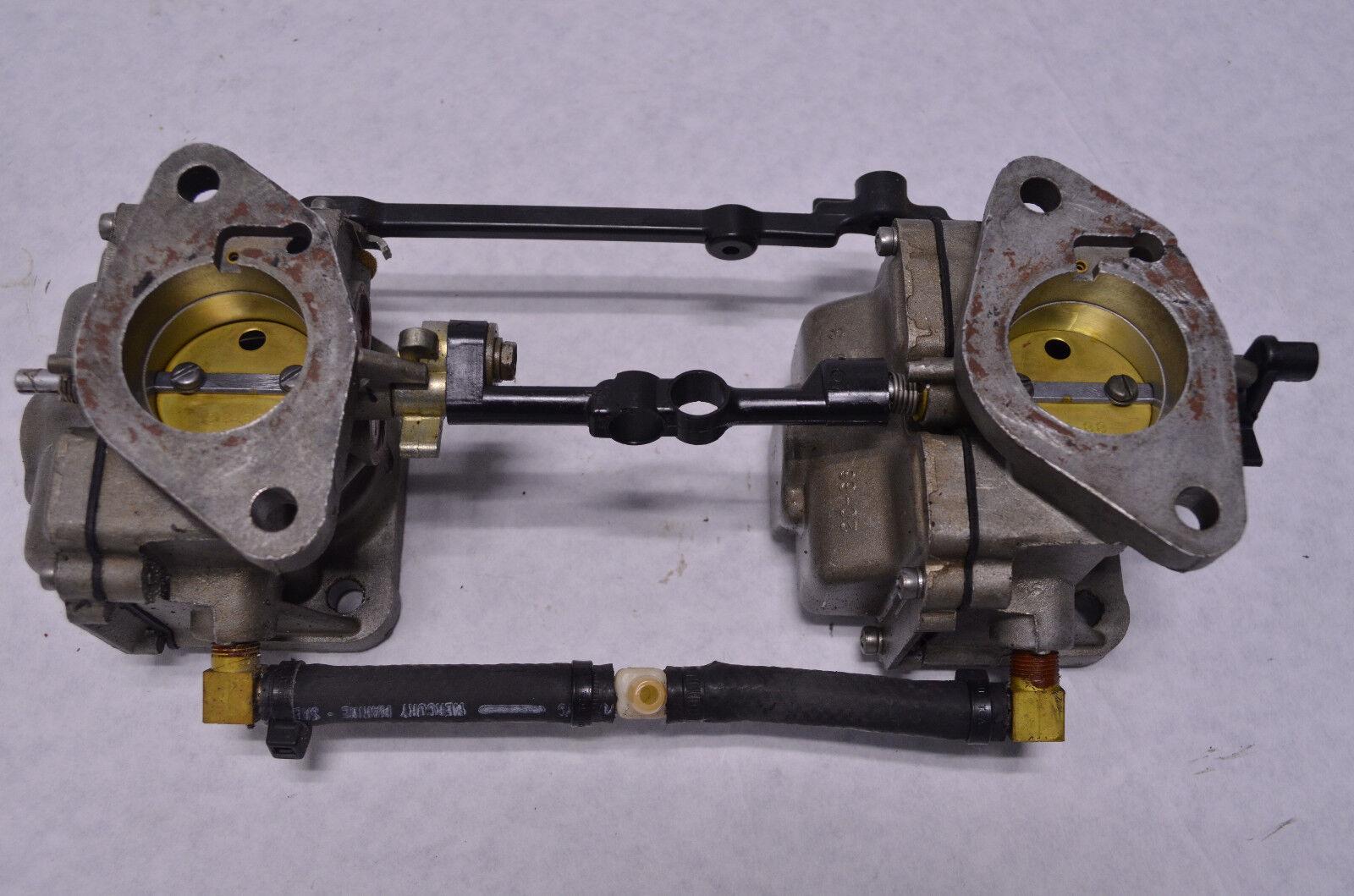 Mercury Outboard OEM 1977 85hp 4 cyl Carburetors 1379-6071A11 (A3-3)