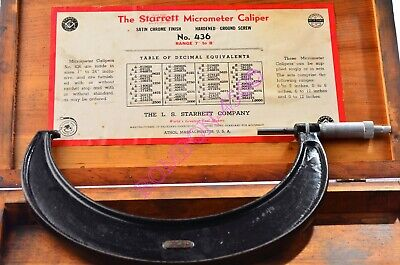 Starrett Outside Micrometer No. 436 7-8. Wcase . Usa Made. Vguwc